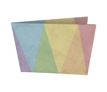 dobra - Nova Carteira Clássica - ângulos coloridos