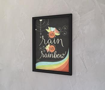 dobra - Quadro - No rain, no rainbow
