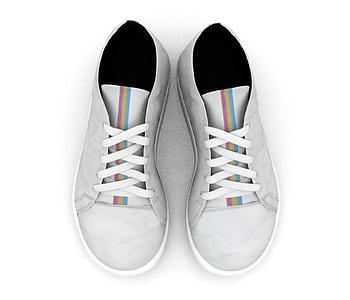 dobra - Tênis - Pansexual Pride - Minimalist White