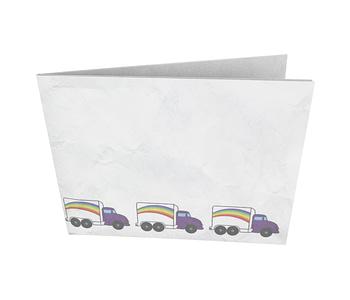 dobra - Nova Carteira Clássica - Caminhão Arco Iris
