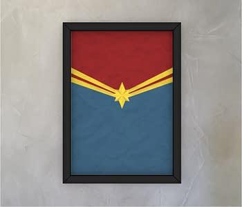 dobra - Quadro - Capitã Marvel Minimalista
