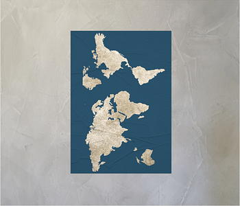 dobra - Lambe Autoadesivo - mapa mundi azulzão