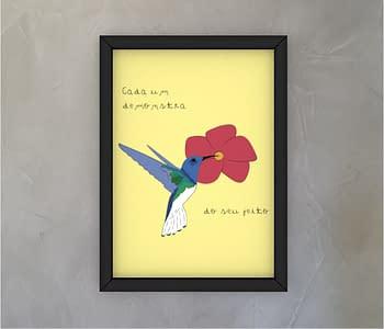 dobra - Quadro - beija-flor