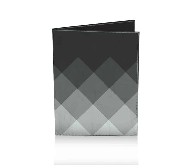 dobra passaporte xadrez cinza
