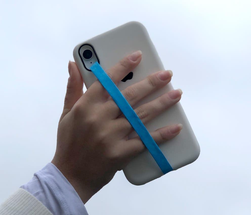 dobra phone strap lisa azul