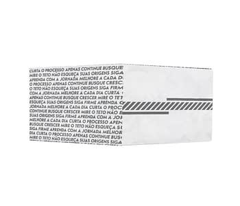 dobra - Nova Carteira Clássica - Cápsula Listras - Branco