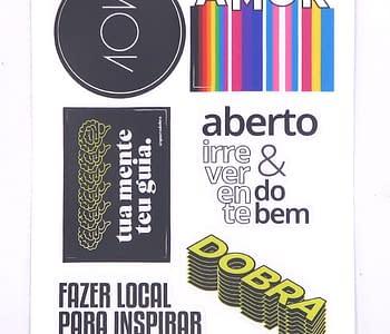 stickers v cartela amor