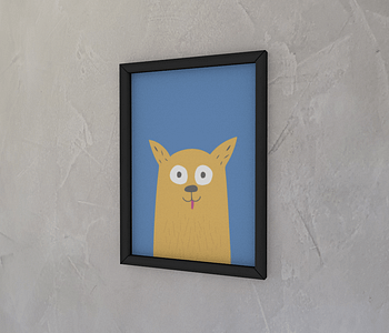 dobra - Quadro - Dog Cascão