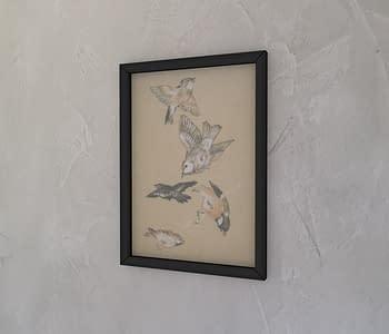 dobra - Quadro - Pássaros