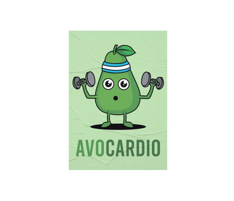 dobra - Lambe Autoadesivo - Avocardio: O abacate fitness