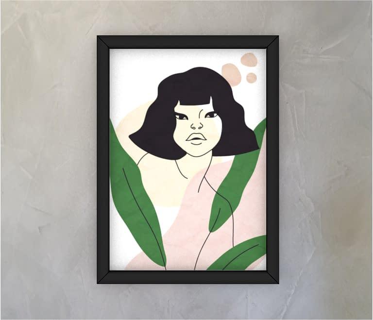 dobra - Quadro - Woman and plants