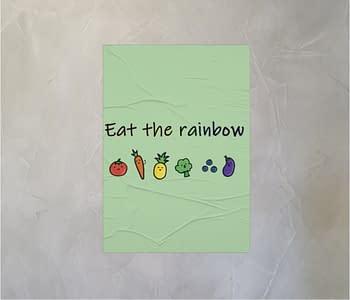 dobra - Lambe Autoadesivo - Eat the rainbow!