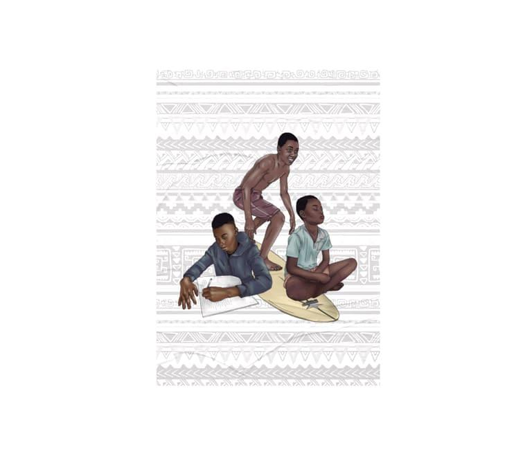 dobra - Lambe Autoadesivo - três meninos lwandi