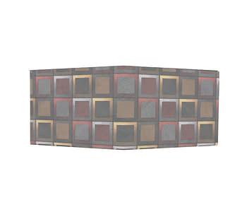 dobra - Nova Carteira Clássica - Quadriculado 3D
