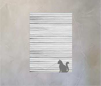 dobra - Lambe Autoadesivo - Gato cinza minimalista