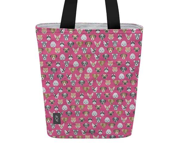 dobra bag cachorrinhos rosa