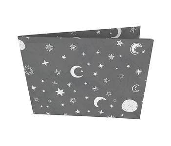 dobra - Nova Carteira Clássica - Black Moon and Stars