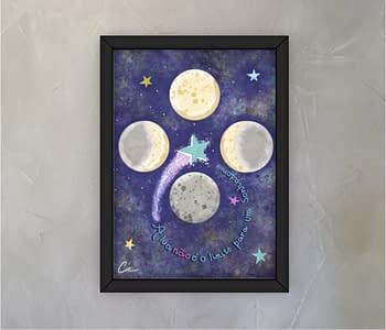 dobra - Quadro - O sonhador e a lua