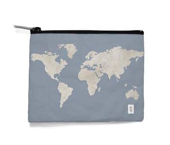 dobra - Necessaire - mapa mundi azulzão