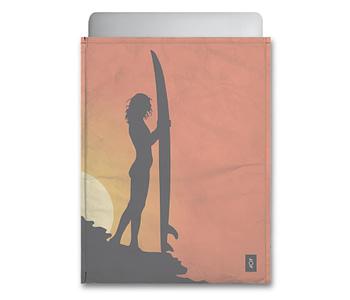 dobra - Capa Notebook - Por do sol e as sombras do Surf
