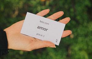 cartão semente da dobra