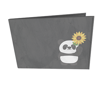 dobra - Carteira Old is Cool - Panda Sunflowers
