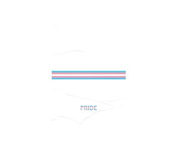 dobra - Lambe Autoadesivo - Transgender Pride - Minimalist White