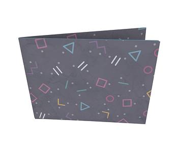 dobra - Nova Carteira Clássica - Geometria Colorida