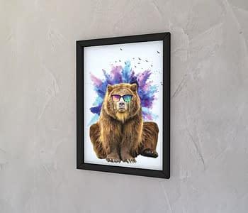 dobra - Quadro - Urso doidão