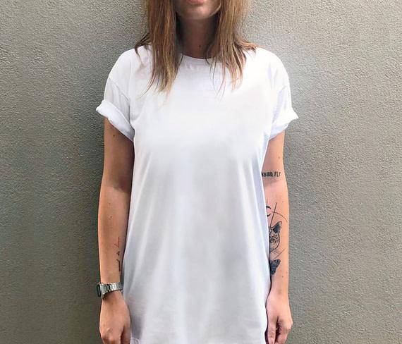 camiseta básica lisa - branca