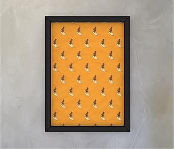 dobra - Quadro - estampa surf laranja
