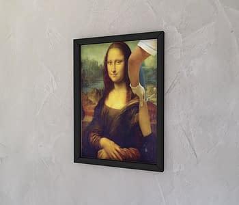 dobra - Quadro - Arte: Mona Lisa Vacinada