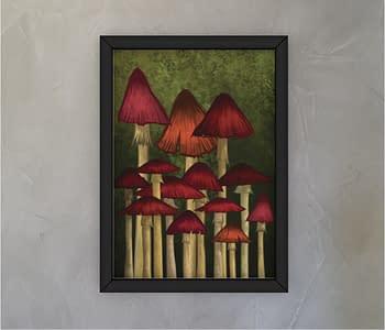 dobra - Quadro - Floresta de cogumelos