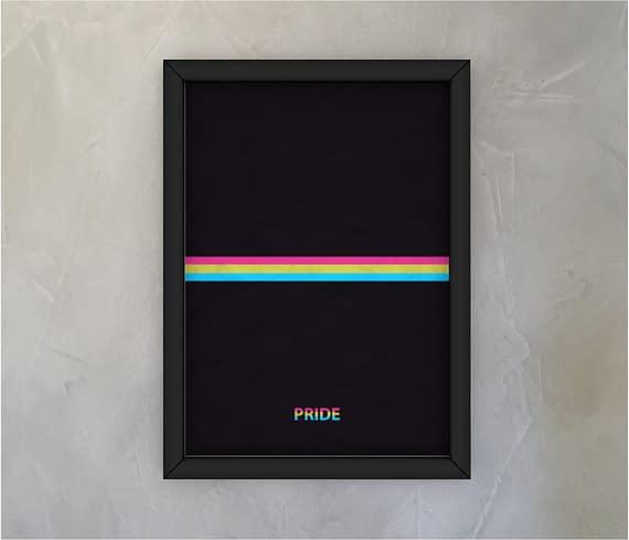 dobra - Quadro - Pansexual Pride - Minimalist Black