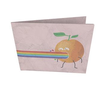 dobra - Nova Carteira Clássica - Orange rainbow