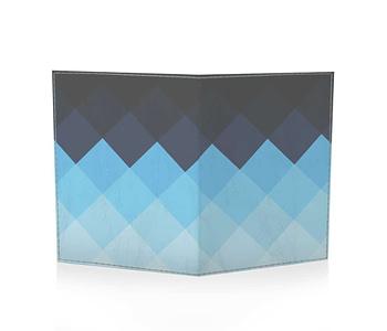 dobra passaporte xadrez azul