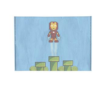 dobra - Porta Cartão - Homem de Ferro Pixel Mário