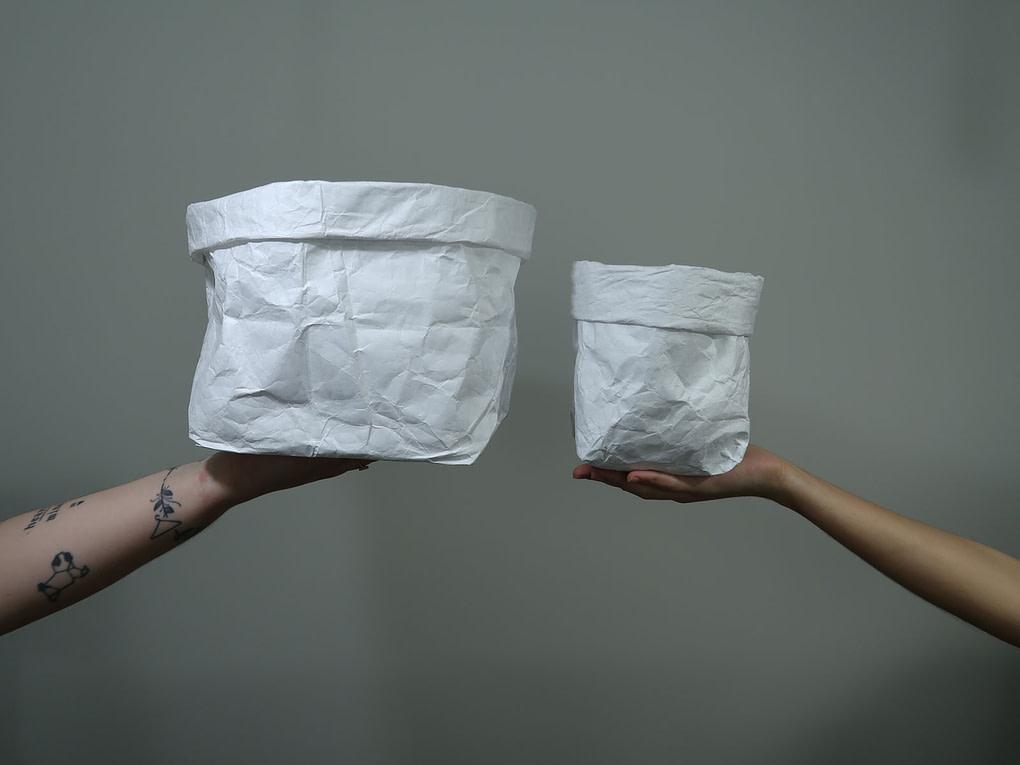 cachepô da dobra em dois tamanhos