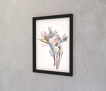 dobra - Quadro - Linhas e flores