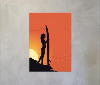 dobra - Lambe Autoadesivo - Por do sol e as sombras do Surf