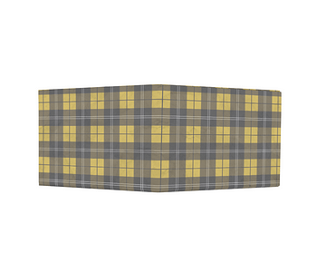 dobra - Nova Carteira Clássica - xadrez amarelo