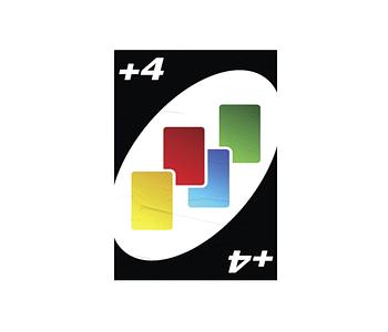 dobra - Lambe Autoadesivo - Carta +4 - Baralho Dobra