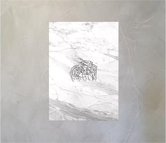 dobra - Lambe Autoadesivo - Anjo sobre mármore