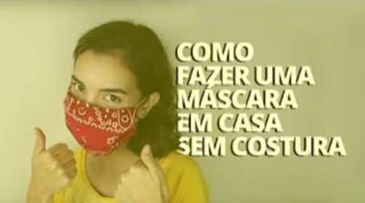 como fazer máscara sem costura