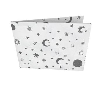 dobra - Nova Carteira Clássica - White Moon and Stars