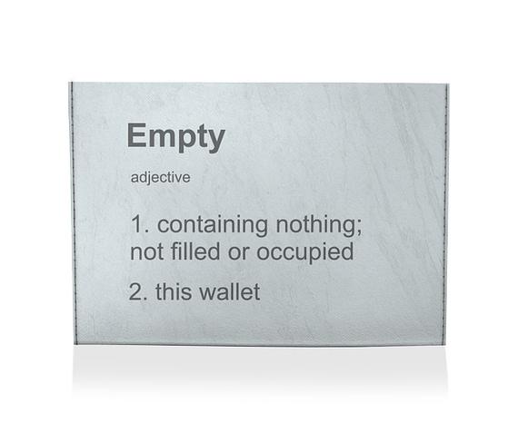 dobra porta cartao vazio