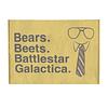 dobra - Porta Cartão - bears. beets. battlestar galactica.