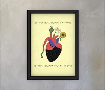 dobra - Quadro - Sentir com o coração