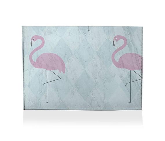 dobra porta cartao flamingos geometricos