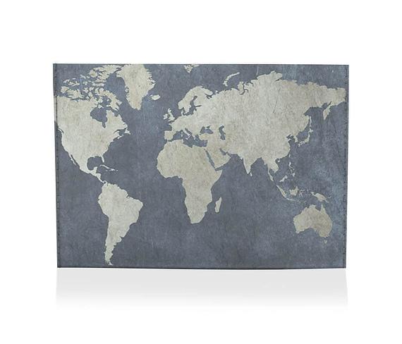 dobra porta cartao mapa mundi azulzao